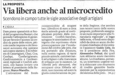 Microcredito: scendono in campo tutte le Associazioni.