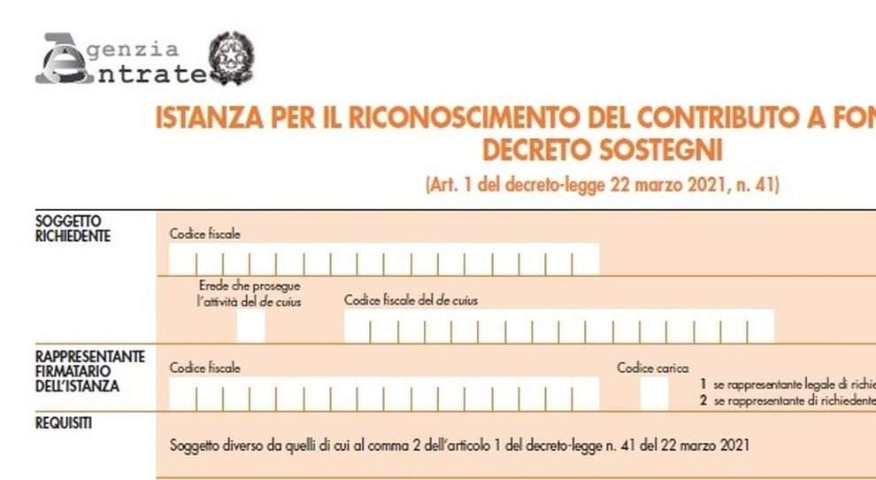Decreto Sostegni, ecco il modello per chiedere il nuovo contributo a fondo perduto alle Entrate. Domande dal 30 marzo
