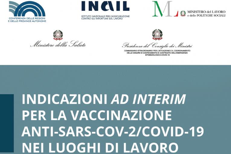 Indicazioni ad interim per la vaccinazione nei luoghi di lavoro